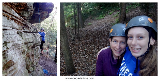 Rock climbing in Hocking Hills, OH