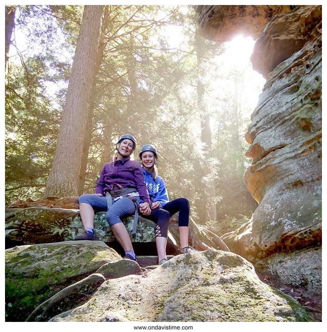 Rock Climbing adventures in Hocking Hills on a mother daughter trip